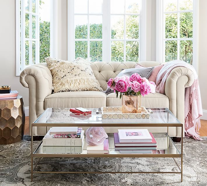 tufted, tailored Chesterfield sofa