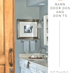 Sliding barn door into bathroom