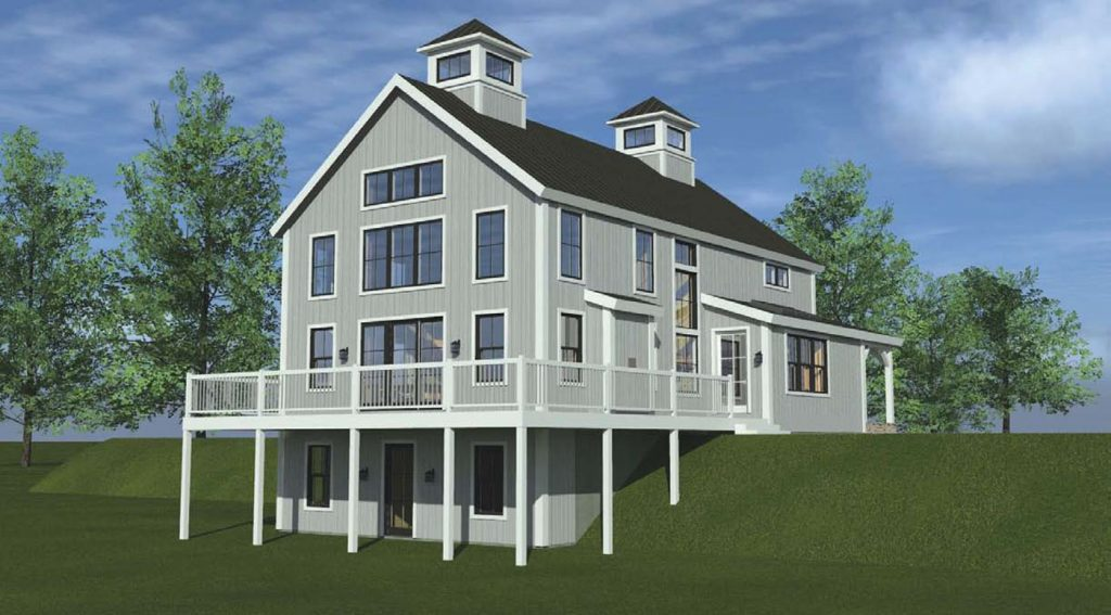 Computer-generated 3D animated model of our project house in New Hampshire.