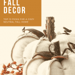 Pinterest graphic with fabric pumpkins for neutral fall decor