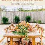 fall wedding tablescape with honey and bee details