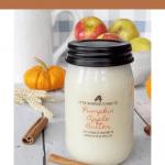 Pumpkin apple butter jar candle
