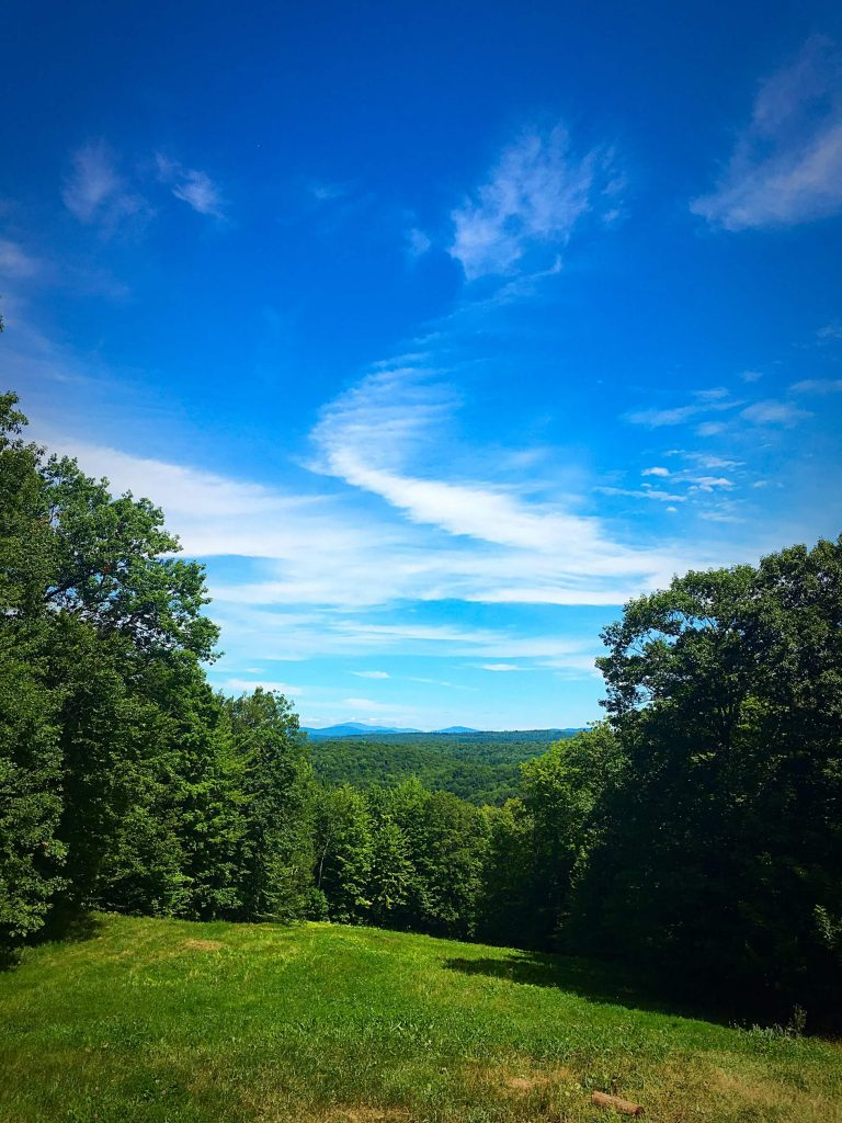 View overlooking a forest near Eastman community New Hampshire.