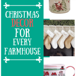 Farmhouse christmas decor with text