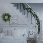 Modern farmhouse style Christmas decor
