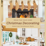 Two images of Christmas decorating ideas
