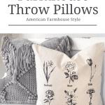 Two farmhouse throw pillows