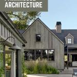 Modern farmhouse exterior with text