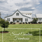 Farmhouse exterior plus text