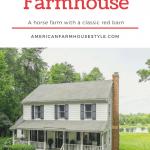 Logan Run, a horse farm in central Virginia includes a colonial style home.