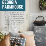 Spring decoration in Georgia farmhouse