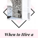 Black and white farmhouse kitchen with herringbone backsplash pattern