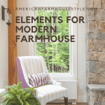 Modern farmhouse style living room with accent chair