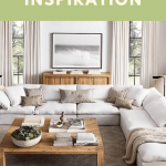 comfy sectional from Restoration Hardware in white with removable cushions