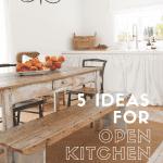 White farmhouse kitchen with text