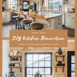 DIY kitchen renovation with text