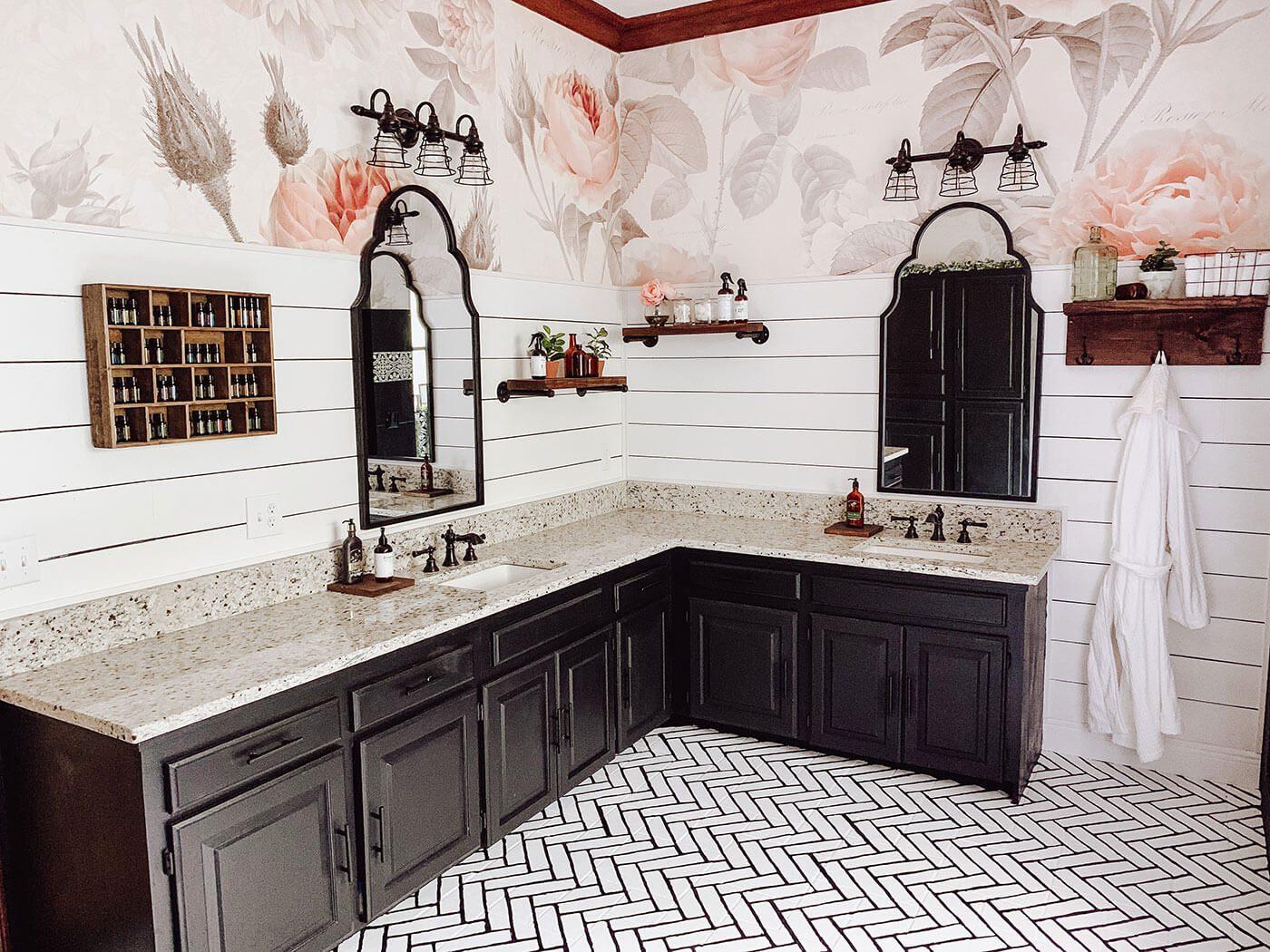 A Farmhouse Bathroom With Diy Charm