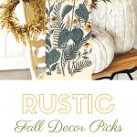 Three rustic fall decor picks plus text