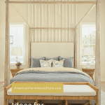 bed with millwork and text overlay