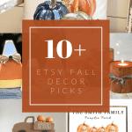Etsy fall decor picks with text