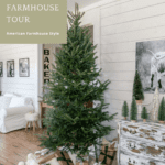 Christmas tree with white walls and buffalo wrapped presents