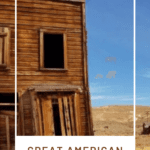 Abandoned ghost town and text