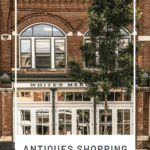 Shop fronts in Franklin, Tennessee plus text
