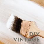 DIY vintage paint technique