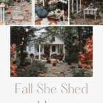 Fall she shed with text